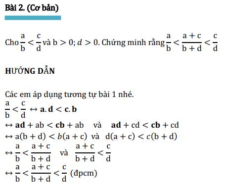 Dạng toán chứng minh lớp 6